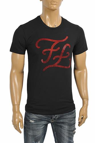 FENDI men's cotton t-shirt with front print 37