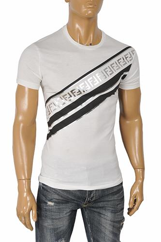 FENDI men's cotton t-shirt with front FF print 52