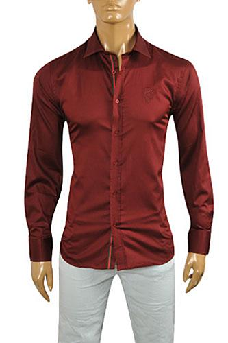 GUCCI Men's Burgundy Red Dress Shirt #328