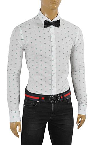 GUCCI Men's Button Front Dress Shirt #0354