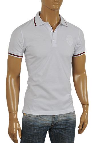 da240ebe7 Mens Designer Clothes | GUCCI Men's Cotton Polo Shirt In White #294 View 1