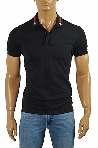 GUCCI Men's cotton polo with Bee appliqué #380