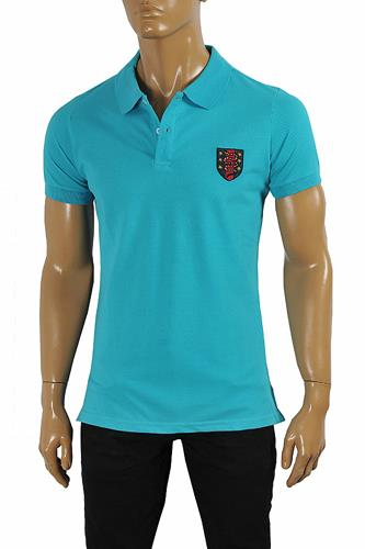 GUCCI Men's cotton polo with Kingsnake embroidery patch 390