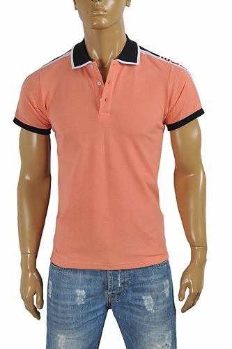 GUCCI men's cotton polo with Gucci stripe 391