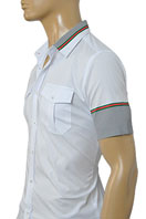 GUCCI Mens Short Sleeve Shirt In White #167