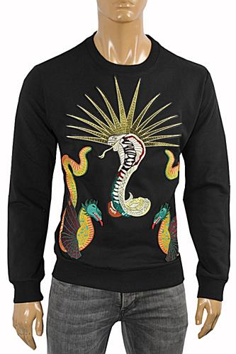 GUCCI Men's Cotton Sweatshirt With Kingsnake Print #359