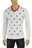 GUCCI Men's V-Neck Knit Sweater #102
