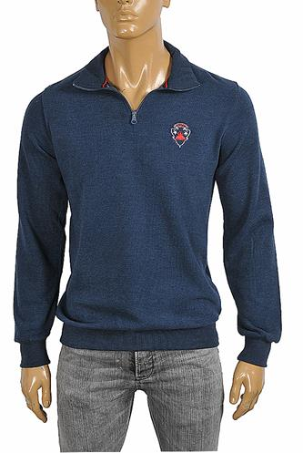 GUCCI Men's knitted sweater in navy blue color 105