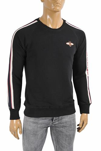 GUCCI men's cotton sweatshirt with bee appliqué 109