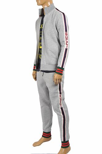 GUCCI Men's jogging suit with red and green stripes 183