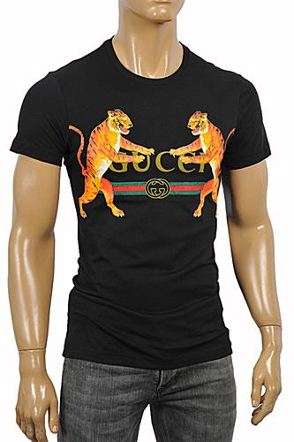 GUCCI Men's Tiger print jersey T-shirt #219