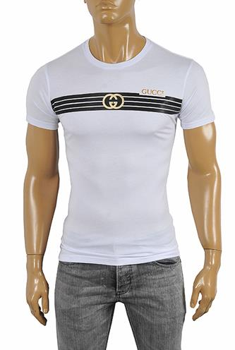 GUCCI cotton T-shirt with front print 256
