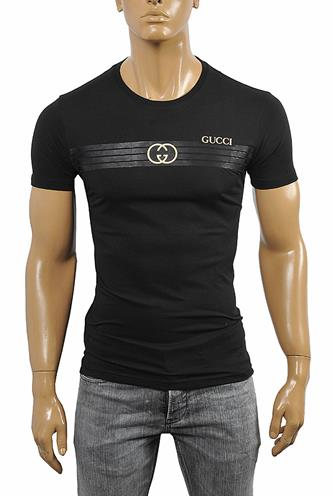 GUCCI cotton T-shirt with front print 257