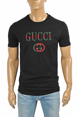 GUCCI cotton T-shirt with front print 272