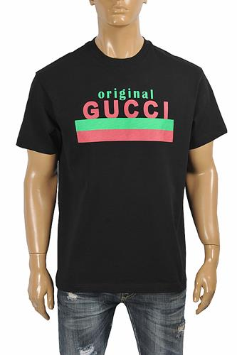 Original GUCCI print oversize men's t-shirt 283