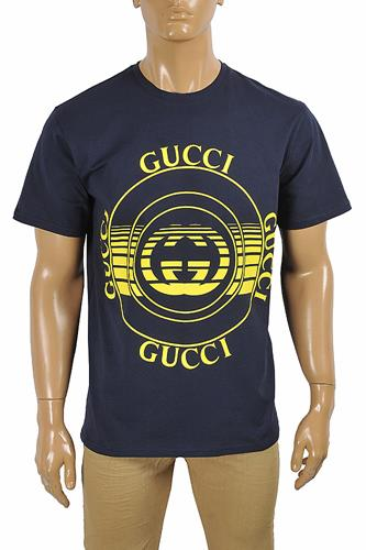 GUCCI cotton T-shirt with front print logo 286