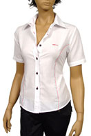 GUCCI Ladies Dress Shirt With Short Sleeve #92