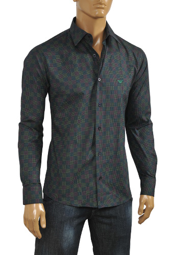 Mens Designer Clothes | EMPORIO ARMANI Men's Dress Shirt #217