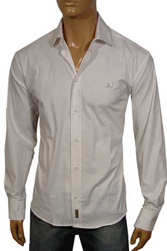 Mens Designer Clothes | ARMANI JEANS Button Dress Shirt #65