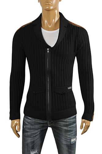 Mens Designer Clothes | EMPORIO ARMANI Men's Knitted Zip Jacket #129