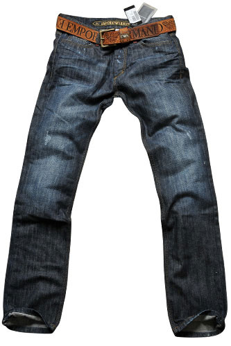 Mens Designer Clothes | EMPORIO ARMANI Men's Jeans With Belt #107