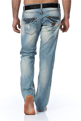 Mens Designer Clothes | EMPORIO ARMANI Mens Washed Jeans With Belt #98