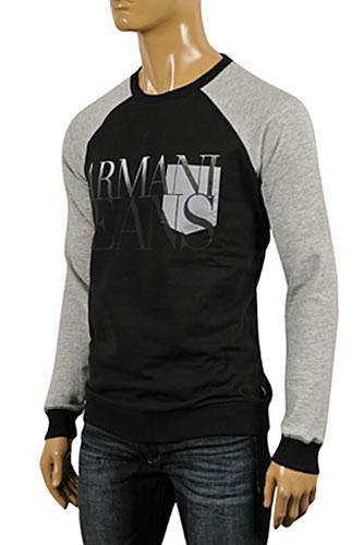 Mens Designer Clothes | ARMANI JEANS Men's Long Sleeve Fitted Shirt #245