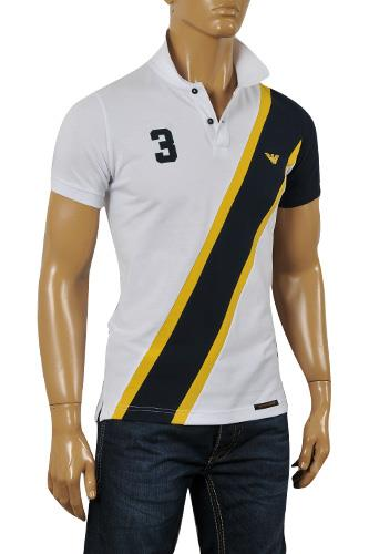 Mens Designer Clothes | EMPORIO ARMANI Men's Polo Shirt #240
