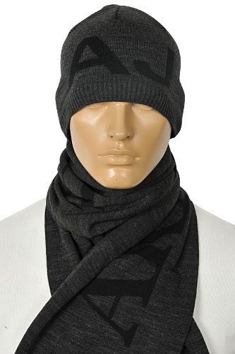 Mens Designer Clothes | EMPORIO ARMANI Men's Hat/Scarf Set #82