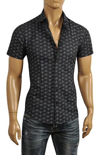 Mens Designer Clothes | EMPORIO ARMANI Men's Short Sleeve Shirt #235