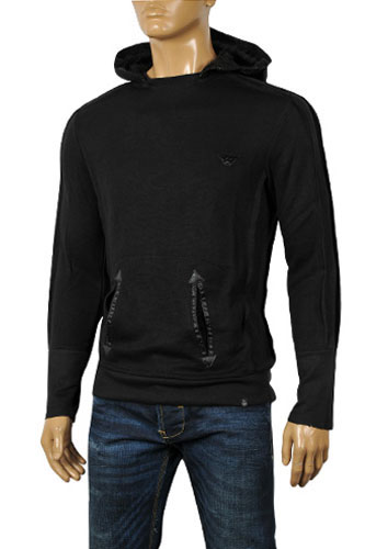 Mens Designer Clothes | EMPORIO ARMANI Cotton Hoodie Sweater #126