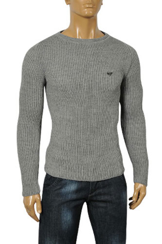 Mens Designer Clothes | EMPORIO ARMANI Men's Fitted Sweater #127