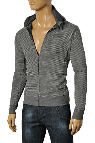 Mens Designer Clothes | EMPORIO ARMANI Men's Zip Up Hooded Sweater #152