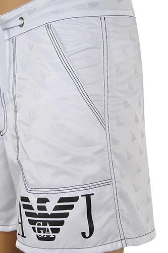 7cd4cd06d7 Mens Designer Clothes | ARMANI JEANS Logo Printed Swim Shorts For Men In  White #54