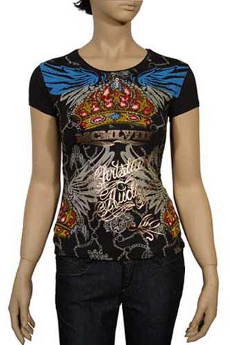 Womens Designer Clothes | CHRISTIAN AUDIGIER Multi Print Lady's Top #72