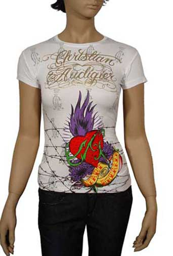 Womens Designer Clothes | CHRISTIAN AUDIGIER Multi Print Lady's Top #77