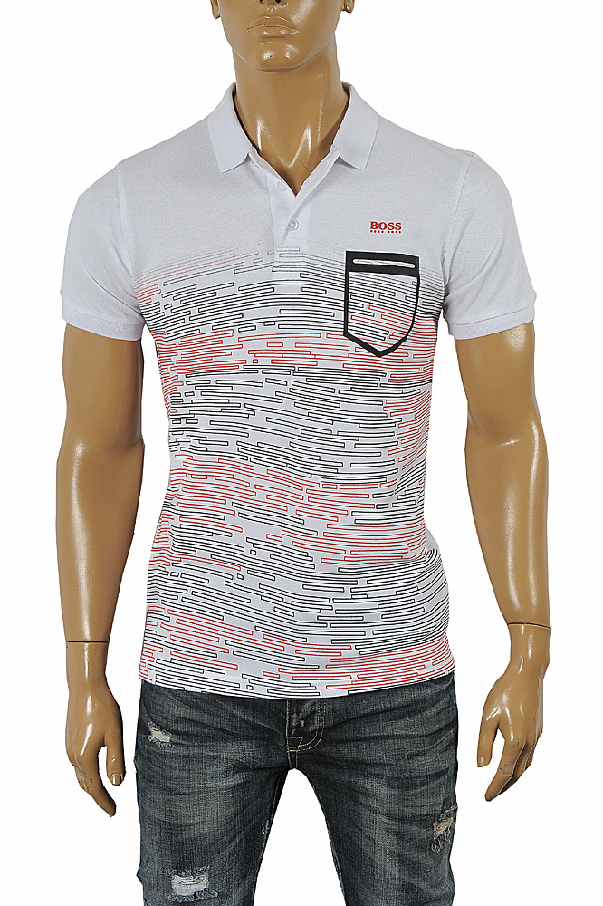 Mens Designer Clothes | HUGO BOSS men's cotton polo shirt 66