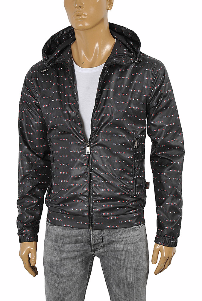 Mens Designer Clothes | BURBERRY men's zip up hooded jacket 51