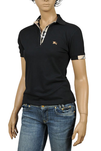 Black Burberry Polo Shirt