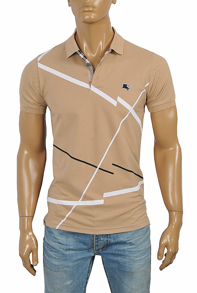 Mens Designer Clothes | BURBERRY Men's Polo Shirt #252