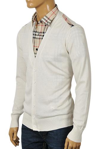 Mens designer clothes burberry men 39 s v neck button up for V neck button up shirt