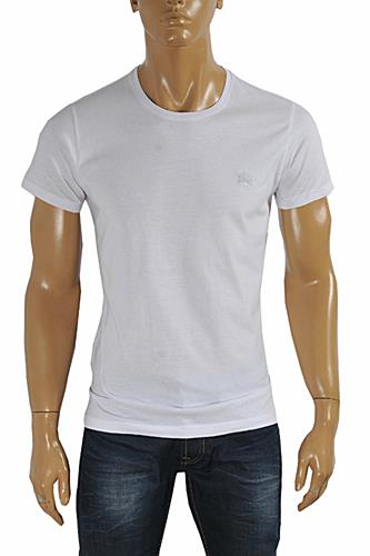 Mens Designer Clothes | BURBERRY Men's Cotton T-Shirt In #236