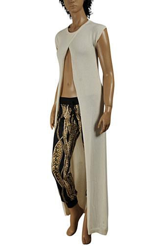 Womens Designer Clothes | ROBERTO CAVALLI long sleeveless knitted dress/cover with opening