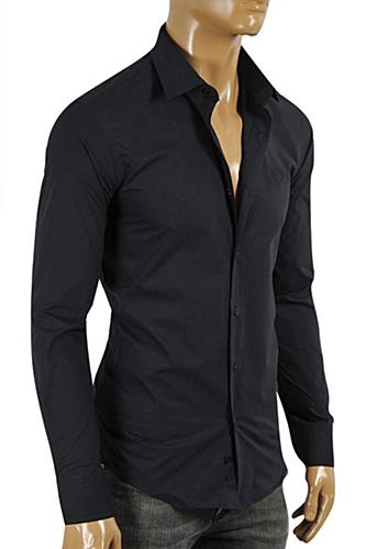 Mens Designer Clothes | ROBERTO CAVALLI Slim Fit Men's Dress Shirt #366