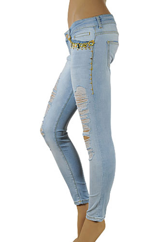 Womens Jeans With Rhinestones