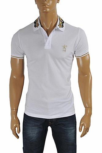 Mens Designer Clothes | CAVALLI CLASS men's polo shirt with collar embroidery #372