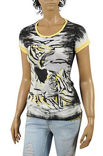 Womens Designer Clothes | JUST CAVALLI Ladies Short Sleeve Tee #124