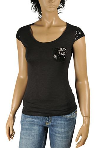 Womens Designer Clothes | ROBERTO CAVALLI Ladies Short Sleeve Top #0156