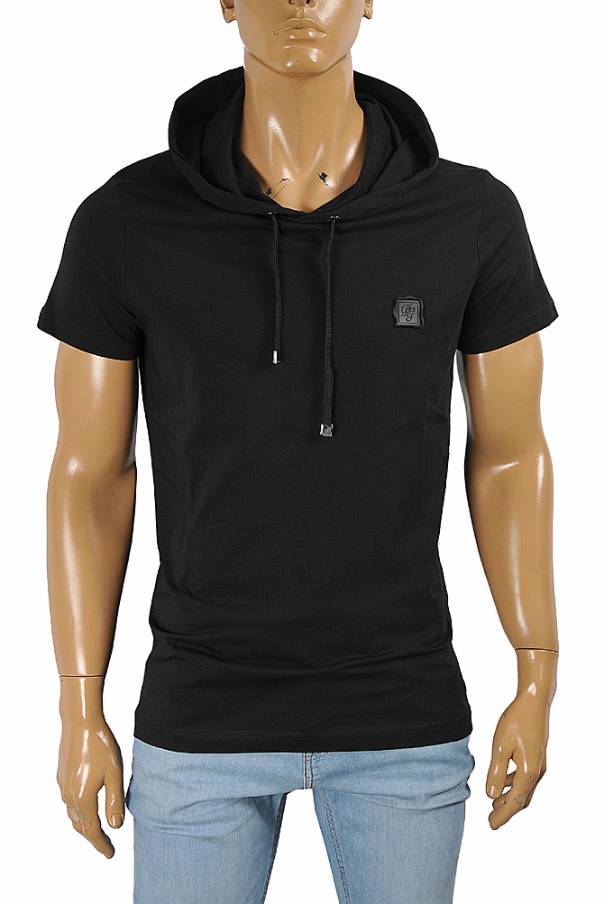 Mens Designer Clothes | DOLCE & GABBANA men's hooded shirt with short sleeve 470