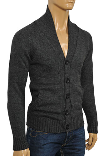 Mens Designer Clothes | DOLCE & GABBANA Men's Warm Button Up Sweater #214